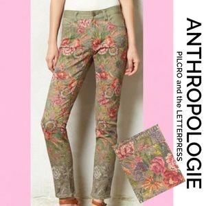 ANTHRO PILCRO LETTERPRESS Pattern Jeans 28